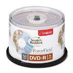 Imation DVD-R, forcefield Scratch-Resistant Coating, 4.7GB, 16X, Silver
