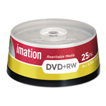 Imation 8x DVD+RW Media 25 Spindle, Silver
