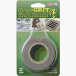 "Incom Anti-Slip Safety Grit Tape, Black True Grip, 1"" x 8', High Traction Surface, Waterproof"
