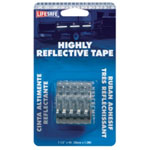 "Incom Reflective Safety Tape, Silver, 1-1/2"" x 4' Roll, Highly Reflective"