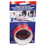 "Incom Reflective Safety Tape, Red, 1-1/2"" x 4' Roll, Highly Reflective"