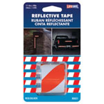 "Incom Reflective Safety Tape, Red/Silver Slanted, 1-1/2"" x 40"" Roll, Highly Reflective, Engineer Grade"