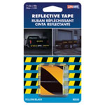"Incom Reflective Safety Tape, Yellow/Black Slanted, 1-1/2"" x 40"" Roll, Highly Reflective, Engineer Grade"
