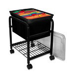 Innovative Storage Design File Cart, Black