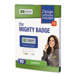 The Mighty Badge Name Badge Starter Kit, Inkjet Inserts, 1 x 3, Gold