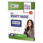 The Mighty Badge Name Badge Refill Kit, Inkjet Inserts, 1 x 3, Gold