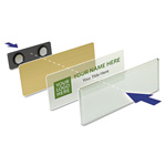 The Mighty Badge Name Badge Refill Kit, Laser Inserts, 1 x 3, Gold