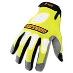 Ironclad Large I-Viz Reflective Gloves, Fluorescent Green