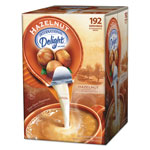 International Delight Flavored Liquid Non-Dairy Coffee Creamer, Hazelnut, .44 oz Cups, 192 Cups/Carton