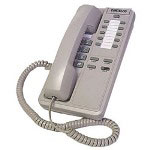 ITT Patriot II Hospitality Basic Corded Telephone w/Memory Buttons, Gray