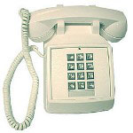 ITT Traditional Corded Desk Telephone, White