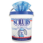 Manufacturing SCRUBS Premoistened Hand Cleaner Towels, 10 1/2 x 12 1/4, 72 Per Bucket