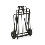 Universal Luggage Cart, 250lb Capacity, 15 x 14 Platform, Black/Chrome