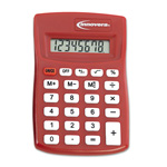 Innovera 15902 Red Pocket Sized 8 Digit Calculator