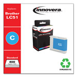 Innovera Remanufactured LC51C Ink, Cyan