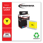 Innovera 20051Y (LC51Y) Inkjet Cartridge, Yellow