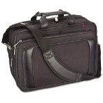 "Innovera Airport Check-In Friendly 16"" Laptop Shoulder Bag w/Cable Pouch, Black"