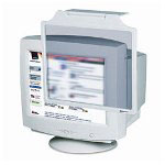 Innovera Privacy Antiglare, Antistatic, Antiradiation Crt Monitor Filter, 19-21, Gray
