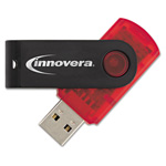Innovera USB 2.0 Flash Drive, 64 GB, Red