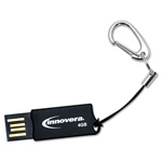 Innovera Micro USB 2.0 Flash Drive, 4 GB, Black