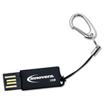 Innovera Micro USB 2.0 Flash Drive, 8 GB, Black