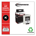 Innovera 4906AN Compatible, Remanufactured, C4906AN (940XL) Ink, 2200 Page-Yield, Black