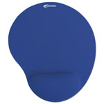 Innovera Mouse Pad and Gel Wrist Rest, 10 3/8w x 1d x 8 7/8, Blue
