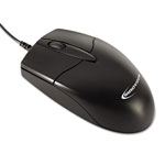Innovera Basic Office Optical Mouse, Three Buttons, Black