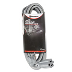 Innovera Indoor Heavy-Duty Extension Cord, 15ft, Gray