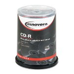 Innovera Silver CD-R Discs, 52X, 700Mb/80Min, Blank Surface, Spindle