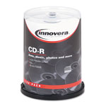 Innovera Matte White CD-R Recordable Discs, 52X, 700Mb/80Min.