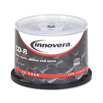 Innovera CD-R Discs, 700MB/80min, 52x, Spindle, Silver, 50/Pack