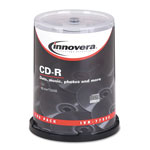 Innovera CD R Recordable Discs, 52x Maximum Recording Speed, 700MB/80MIN