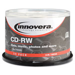 Innovera CD-RW Discs, 700MB/80min, 12x, Spindle, Silver, 50/Pack