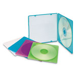 Innovera CD Shell Cases, Assorted Colors: Green, Yellow, Blue, Pink, Purple