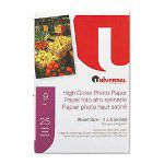 Innovera Glossy Ink Jet Photo Paper, 4 x 6, 9 Mil, White