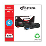 Innovera TN315C Compatible Reman Toner, High Yield, 3500 Page-Yield, Cyan