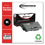 Innovera Black Compatible Remanufacturered Toner Cartridge Model TN360 Page Yield 2600