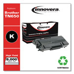 Innovera TN650 Compatible High-Yield Toner, 8,000 Page Yield, Black