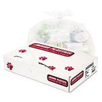 "Jaguar Plastics Heavy-Duty Clear Flat-Bottom Trash Bags, 55 Gallon, 1.8 Mil, 38"" X 63"", Roll of 75"