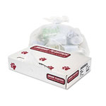 "Jaguar Plastics Heavy-Duty Clear Flat-Bottom Trash Bags, 60 Gallon, 2.7 Mil, 38"" X 63"", Roll of 50"