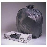 "Jaguar Plastics Super Heavy-Duty Black Flat-Bottom Trash Bags, 60 Gallon, 1.1 Mil, 38"" X 58"", Case of 100"