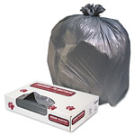 Jaguar Plastics Heavy-Duty Gray Flat-Bottom Trash Bags, 60 Gallon, Extra Heavy, Carton of 100