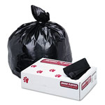 "Jaguar Plastics Extra Heavy Black Flat-Bottom Trash Bags, 60 Gallon, 1.7 Mil, 38"" X 58"", Case of 100"