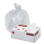 "Jaguar Plastics High Density White Flat-Bottom Trash Bags, 16 Micron, 30"" X 37"", Case of 500"