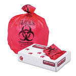 "Jaguar Plastics Health Care ""Biohazard"" Printed Liners, 1.3mil, 24 x 32, Red, 250/Carton"