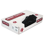 Jaguar Plastics Heavy-Duty Black Flat-Bottom Trash Bags, 60 Gallon, Carton of 100