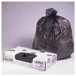 "Jaguar Plastics Black Flat-Bottom Trash Bags, 0.7 Mil, 43"" X 47"", Case of 100"