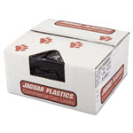 Jaguar Plastics Low Density Black Trash Bags, 45 Gallon, 1.5 Mil, Case of 100