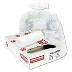 "Jaguar Plastics High Density White Trash Bags, 17 Micron, 38"" X 60"", 8 Rolls of 25"